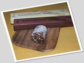 Schokosalami und Salzstäbchen